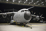First Royal Air Force A400M transport plane is unveiled at RAF Brize Norton (45158356).jpg