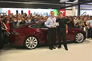 Tesla Model S - Delivery of the first Tesla Model S on June 1, 2012