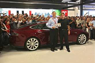Tesla Model S - Delivery of the first Tesla Model S on June 1, 2012