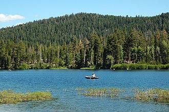 Manzanita Lake - Image: Fishing on Manzanita Lake