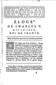 Fist page of the Eulogy of Charles V (Bailly).png