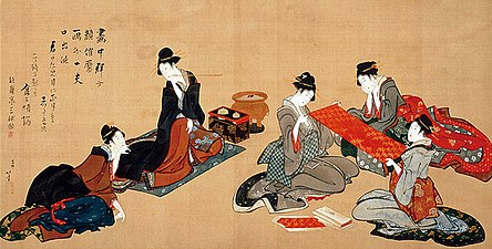 Five Beauties by Hokusai (Hosomi Museum).jpg