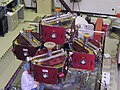 Five THEMIS probes on the Probe Carrier.jpg