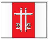 Flag of Žagarė.png