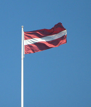 Flag of Latvia - Flagpole