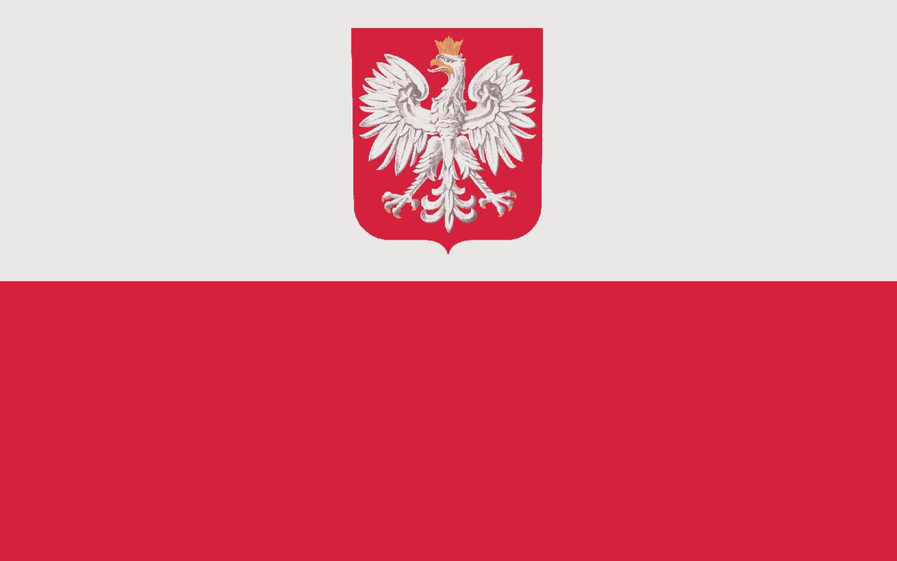 Flaga z godlem Rzeczypospolitej Polskiej.PNG