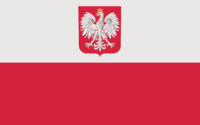 Flag of Poland with the coat of arms