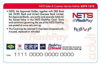 Network for Electronic Transfers - Image: Flash Pay (back)