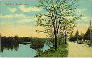 Flat River (Michigan) - Flat River in Michigan, ca. 1910 vintage postcard