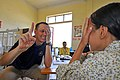 Flickr - Official U.S. Navy Imagery - A doctor checks the eyesight of a Vietnamese child..jpg