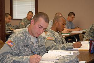 Pfc. Daniel McAfee, left, and Pvt. Ishmael Dix...