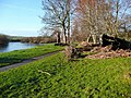 Flood debris by the River Clyde - geograph.org.uk - 1605626.jpg