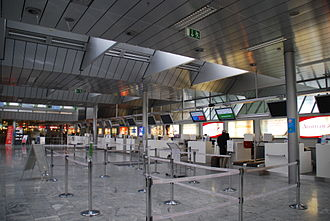 Linz Airport - Check-in area