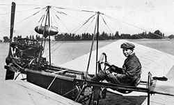 Fokker in zijn Spin Dutch aviation pioneer Fokker in his first aircraft.jpg