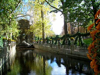 Gardens of the French Renaissance - Medici Fountain, Paris.
