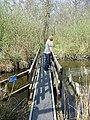 Footbridge over stream on Bure Marshes nature reserve - geograph.org.uk - 402613.jpg