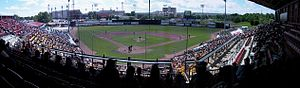 Foothills Stadium - Foothills Stadium during a Calgary Vipers game
