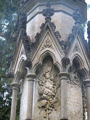 Forglen House - Image: Forglen House, detail on memorial