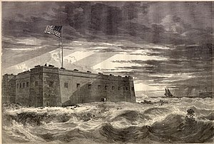 Fort Pickens - Engraving of wartime Fort Pickens