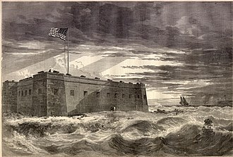 Battle of Santa Rosa Island - Fort Pickens, the site of the Battle of Santa Rosa Island