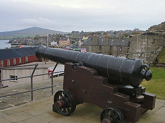 Shetland - Fort Charlotte overlooking Lerwick, Shetland's largest settlement.