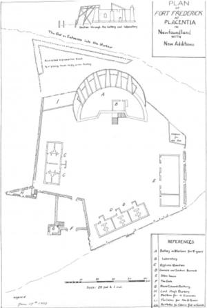 Fort Frederick (Newfoundland) - Fort Frederick Newfoundland Blueprint