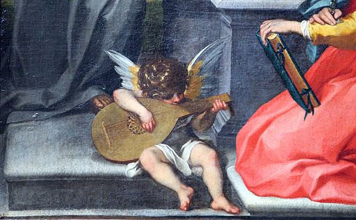 Francesco vanni, madonna in trono tra i ss. agata e bernardino, 1600 ca. 03