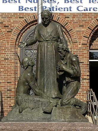 Francis Xavier Pierz - Statue of Francis Xavier Pierz in front of St. Cloud Hospital