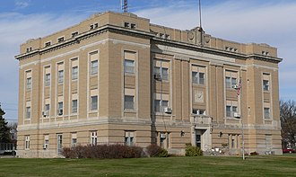 National Register of Historic Places listings in Franklin County, Nebraska - Image: Franklin County (Nebraska) Courthouse from SE