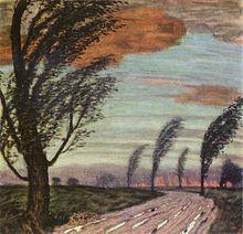 """""""Paesaggio nella burrasca"""" di Franz von Stuck"""