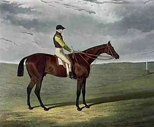 Frederick (horse) - Frederick and John Forth. Painting by John Frederick Herring, Sr.