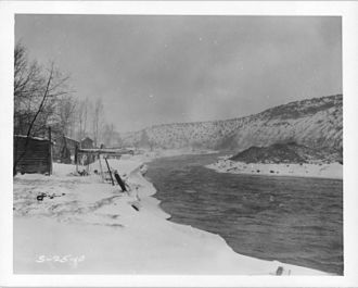 Christmas flood of 1964 - The freeze of December 1964 that occurred before the flood