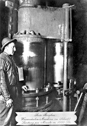 Water engine - Image: Freiberg Wassersäulen Maschine 1900