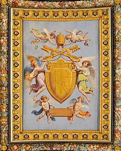 Fresco with CoA of Pope Pius VII.jpg