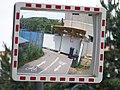Freyova, zatáčky cyklostezky u mostu bývalé železniční vlečky, výstavba Rezidence Eliška.jpg