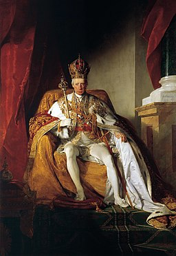 Friedrich von Amerling - Emperor Franz I of Austria in his Coronation Robes - WGA00263