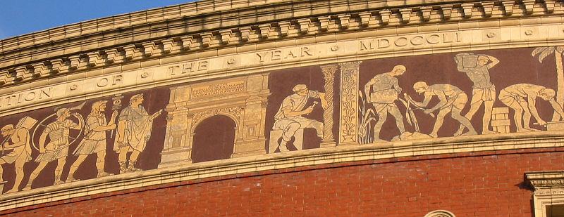 File frieze on the royal albert hall 2008 for Door 8 albert hall