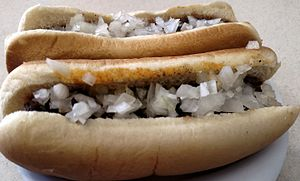 Coney Island hot dog - Coney Islands at Ft. Wayne's Famous Coney Island Wiener Stand