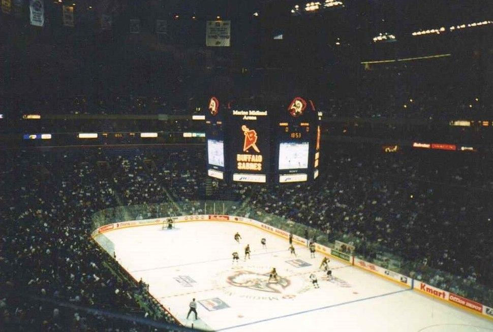 Full House at Buffalo's Former Marine Midland Arena for Buffalo Sabres Hockey, 1999