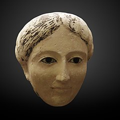 Funerary mask of a young woman-MAHG 012484