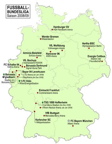Fussball-Bundesliga Deutschland 2008-09