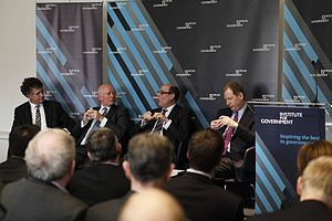 Institute for Government - A panel discussion at the Institute for Government in 2011.