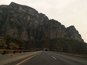 Zhongtiao Mountains - The G55 Erenhot–Guangzhou Expressway through the Zhongtiao Mountains