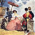 Gagarin. In front of Spanish woman. 1833. Illustration of A. Pushkin's poem.jpg