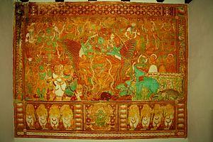 Krishnapuram, Alappuzha - Gajendra Moksham mural at Krishnapuram palace