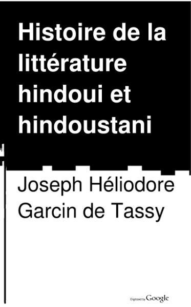 File:Garcin de Tassy - Histoire de la littérature hindouie et hindoustanie, t1.djvu