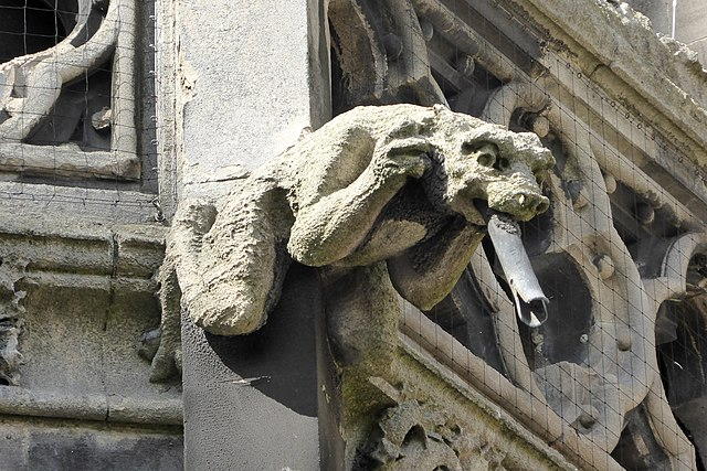 Gargoyle on the Church of Our Lady of the Assumption and the English Martyrs, in Cambridge, England
