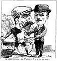Gaston Rivierre et Fernand Charron son chauffeur, victorieux après Bordeaux-Paris cycliste en mai 1897.jpg