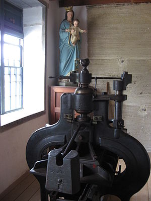 Pompallier House - The Gaveaux printing press in the Pompallier House