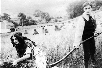 Kalem Company - Gene Gauntier and Jack J. Clark on location in Ireland in You Remember Ellen (1912)